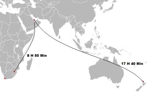 QR flight path to SA