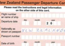 Departure cards a thing of the past for New Zealand