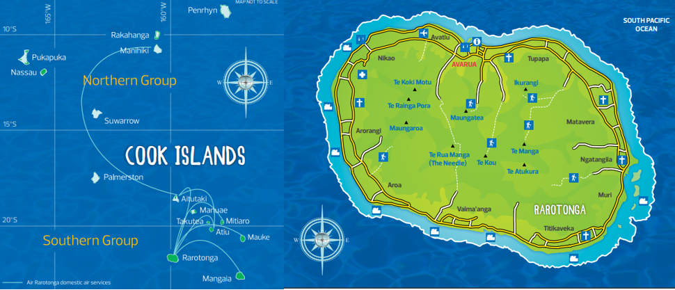 Cook island map