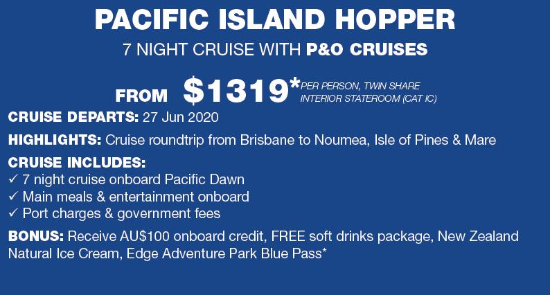 Pacific island hopper