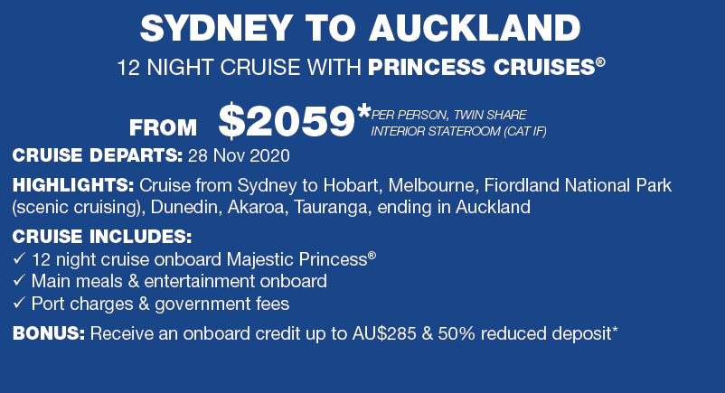 Sydney to auckland 12 nights